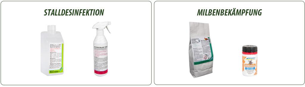 Mittel zur Geflügelstall-Desinfektion & Milben-Bekämpfung